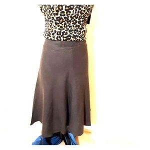 Banana Republic brown 100% Linen skirt. 12